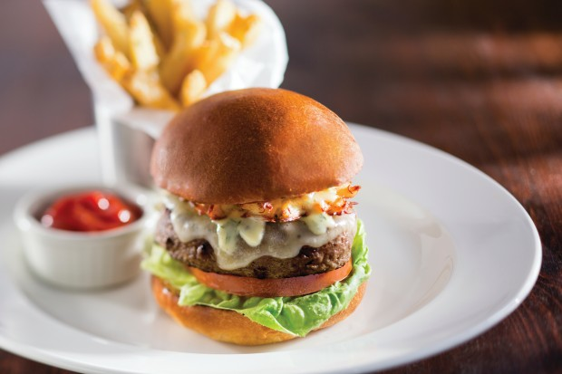 Oscar-style Wagyu Burger with Jumbo Lump Crab and Bearnaise ($19)