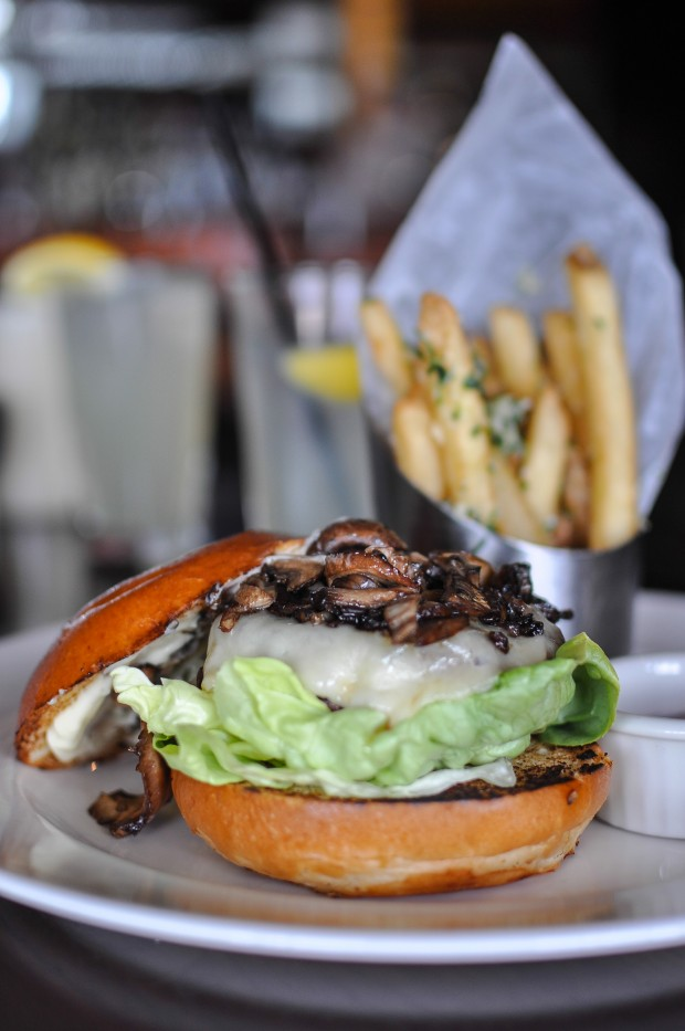 Wild Mushroom Wagyu Cheeseburger with 15-year Aged Balsamic ($18)