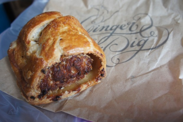 The Ginger Pig's famous sausage roll - one of the best I've had in London
