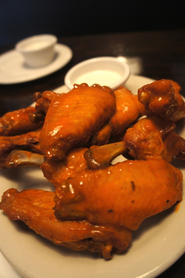 Southern Moon's buffalo wings with buttermilk ranch