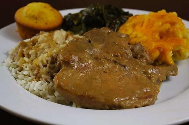 Smothered Pork chops at McKnight's