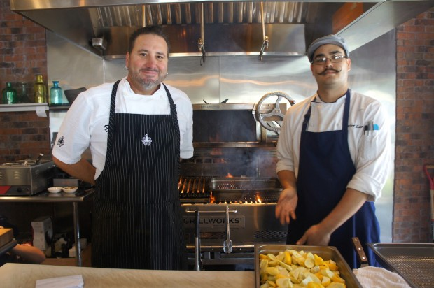 Chef Henry Salgado and Peter Lee of Txokos Basque Kitchen