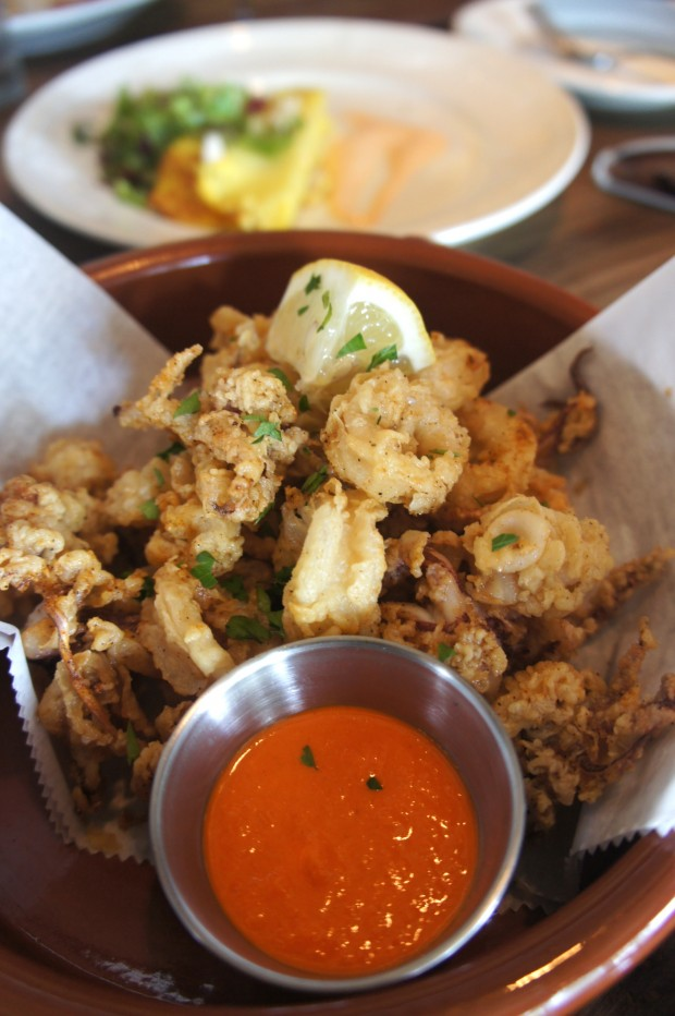 Calamari Fritto - lightly fried with a house made romesco sauce for dipping