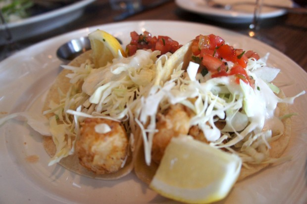 Tacos con Bacalao - Deep Fried salt cod, shredded cabbage, tomato garlic relish, toasted cumin seed vinaigrette - $14 - the salt cod was a bit too salty on this visit and would have benefitted from soaking longer to reduce the salt content in the bacalao.