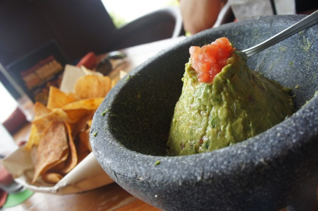Guacamole prepared tableside