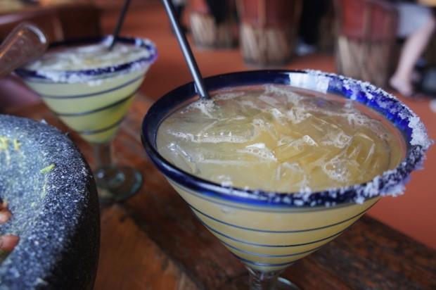Premium margaritas at Rocco's Tacos
