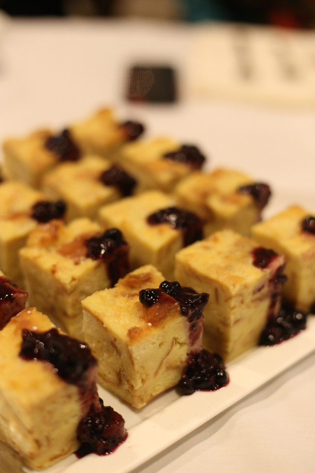 GRANDMA'S BREAD & BUTTER PUDDING  - Heavens to Betsy berry compote, vanilla ice cream