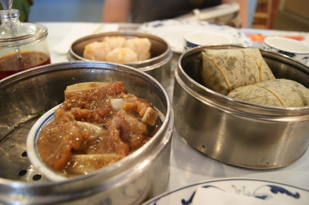 Spare Ribs, Pork Siu Mai, and Sticky Rice in Lotus leaf at Lam's Garden