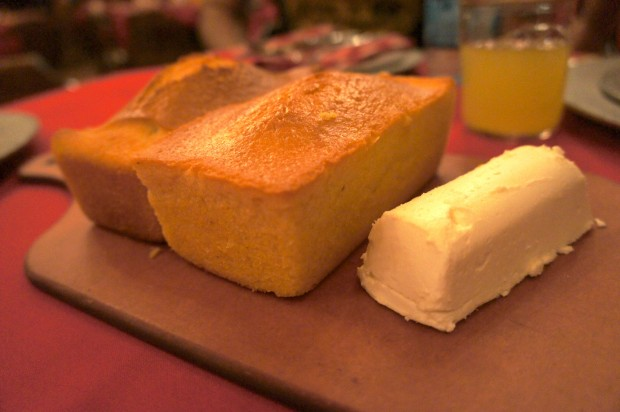 Corn bread at the Hoop-de-doo