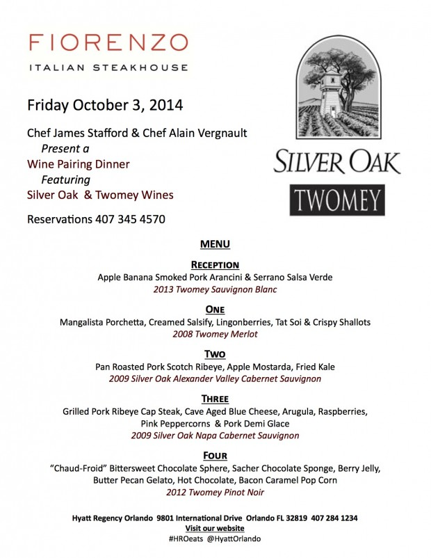 Silver Oak WEB Oct. Wine Dinner