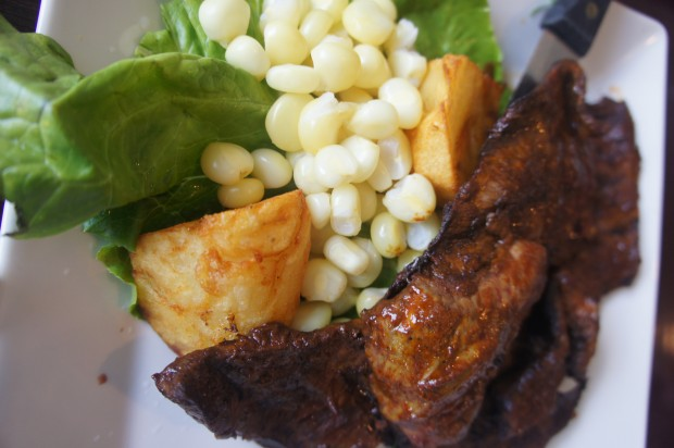 Anticuchos de corazon - grilled marinated beef hearts