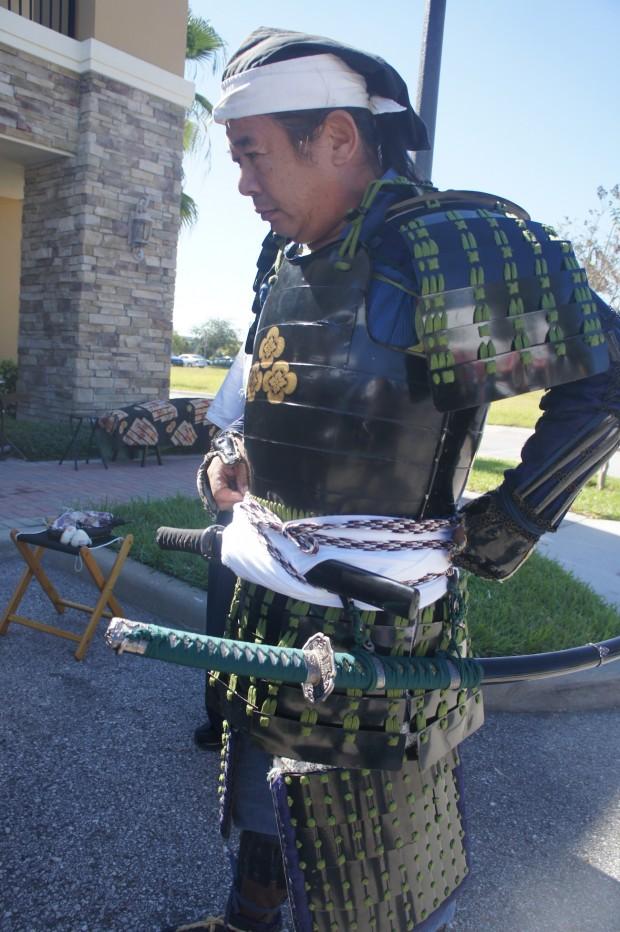 Samurai gear in show
