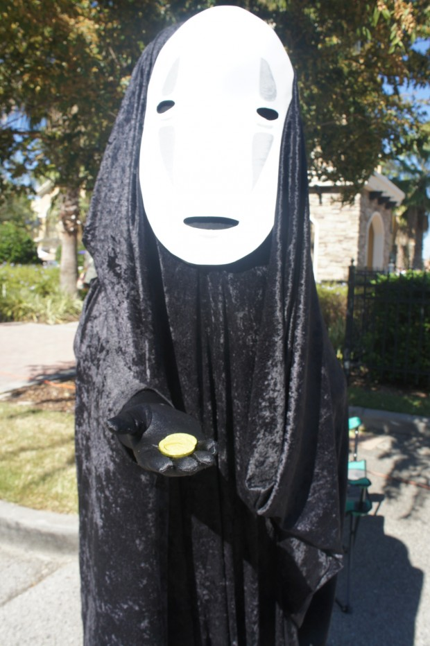 "No-Face (???? kaonashi, lit. ""faceless""), a spirit in the Japanese animated film Spirited Away"