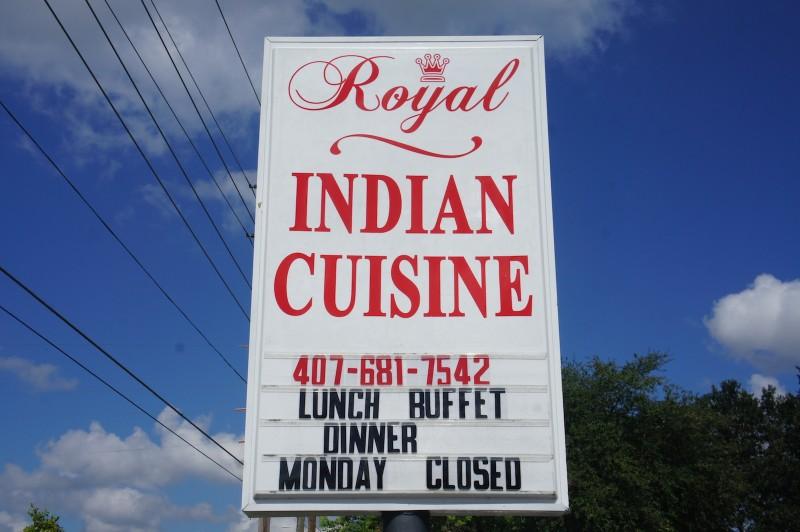 Royal Indian Cuisine - Closed Mondays