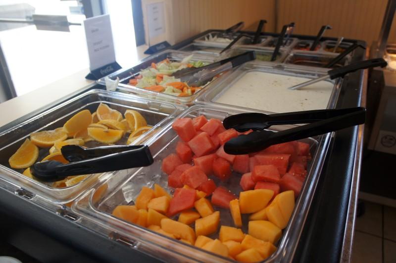Fruits, chutneys, yogurts
