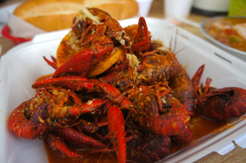 Crawfish with Shabang sauce