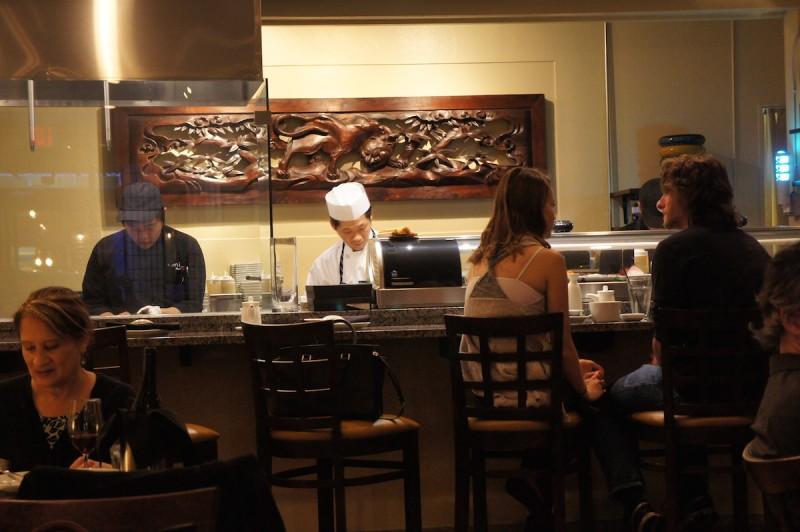 Sushi bar at Umi