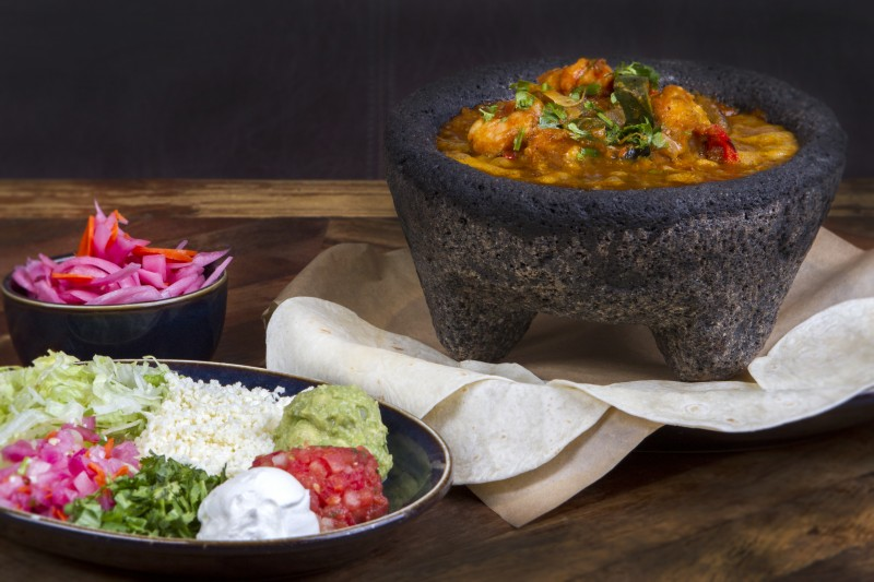 Rocco's Tacos & Tequila Bar Signature Dish (Seafood Molcajete)