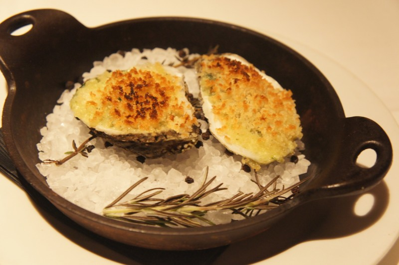 Oysters Fondue