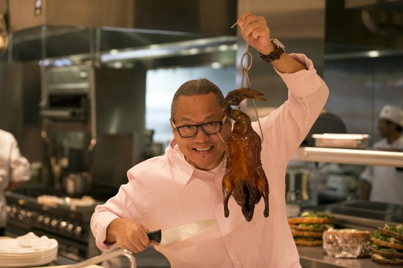 Chef Morinoto and Peking duck