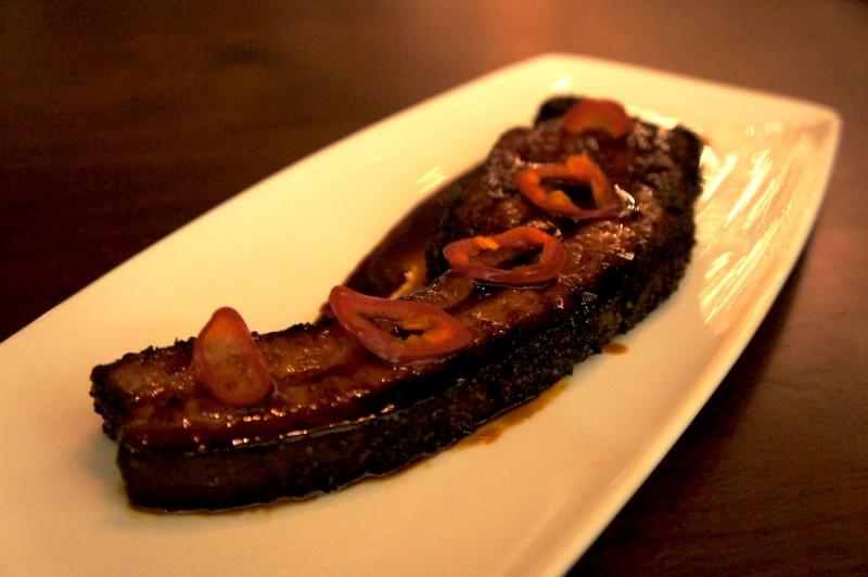 Thick Cut Bacon Au Poivre Bourbon Molasses Glaze - $14.5