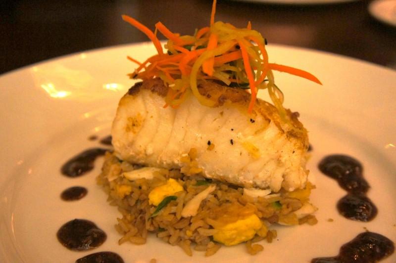 Seared Chilean Sea Bass Crab Fried Rice & Black Bean Garlic Sauce - $44