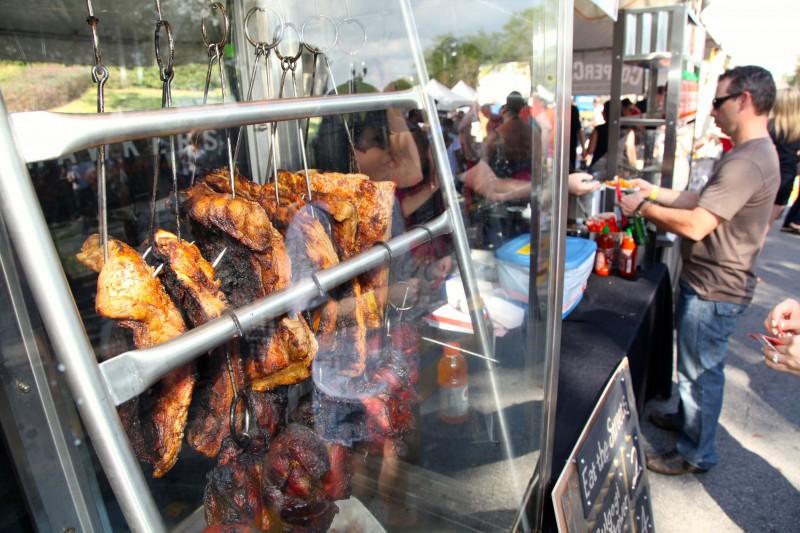 Food Samplings at Downtown Food & Wine Fest v2