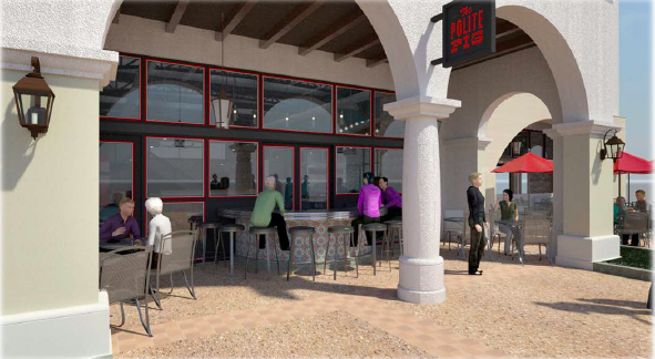 Rendering of The Polite Pig at Disney Springs. Courtesy of The Swine Family Restaurant Group