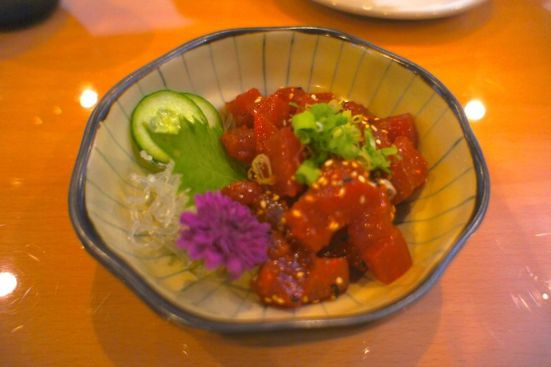 Wa Sushi's Tuna Kobachi